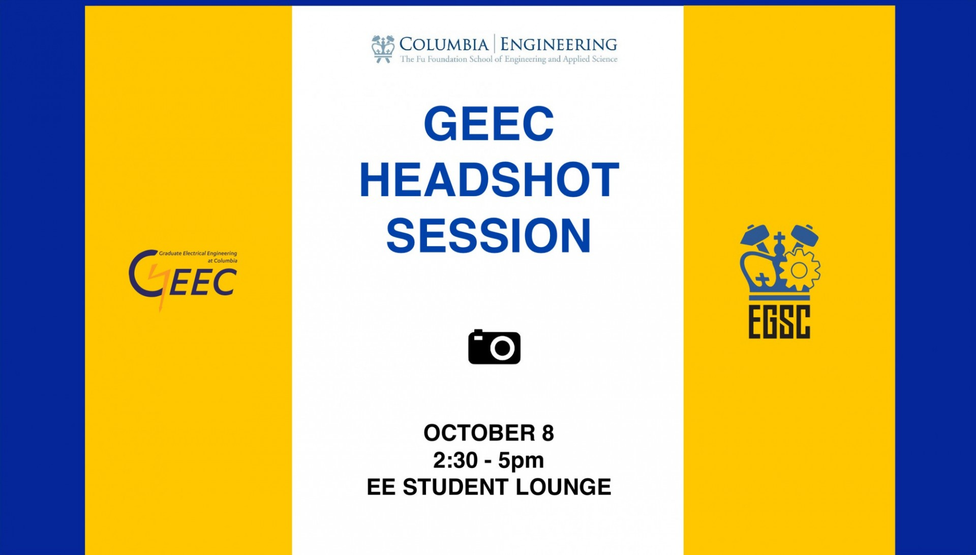 GEEC Fall 2019 Headshot session flier